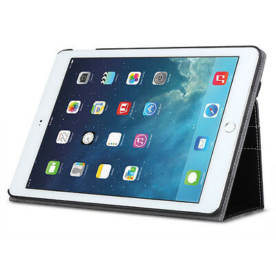 Poetic SlimBook PU Leather Folio Stand Cover Case for Apple iPad Air 2 Black