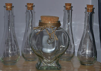 Sand Ceremony Set ~ Heart Jar ~Filagree Heart & 4, 5 Or 6 Tear Drop/pear Pourers