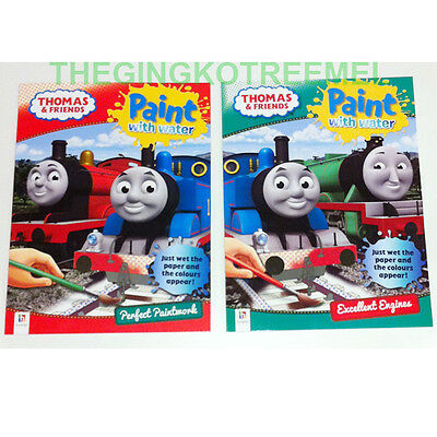 Thomas & Friends Paint with Water Colouring Books, 2 Books Set, Just Wet Paper