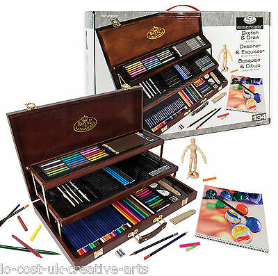 Royal & Langnickel Artist Sketching & Drawing Wooden Box Set 134Pc -[Art8100]