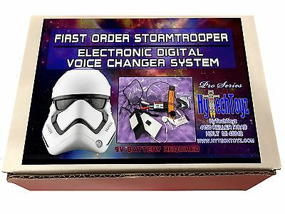 First Order Stormtrooper Digital Voice Changer System Helmet Costume Pro Series