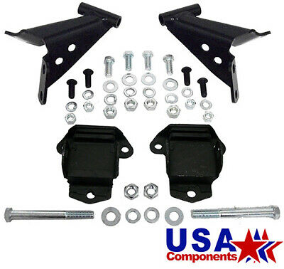 1955 56 57 Chevy Belair V-8 Motor Mount Bracket Set, Side Mount, Stock Location