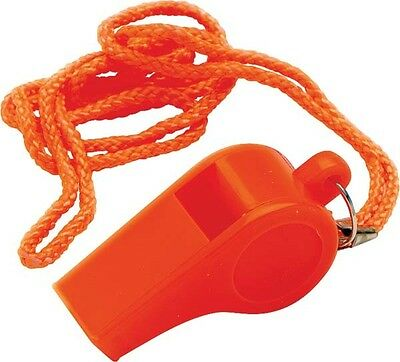 Boat Marine Safety Whistle 115db Pealess  Lanyard USCG Approved WORKS WHEN WET