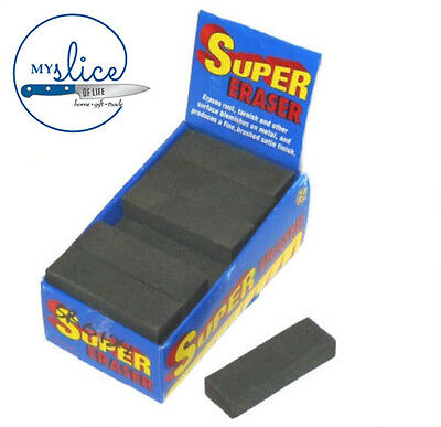 Super Eraser Removes Surface Rust / Tarnish / Blemish Knife Machete Axe Tools
