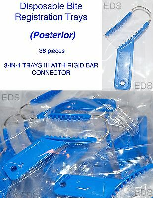 Posterior 3-in-1 Impression Bite Registration Trays Rigid Bar Connector