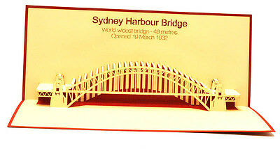 Sydney Habour Bridge -  Australia - Souvenir - 3D pop up card - 9x20 cm