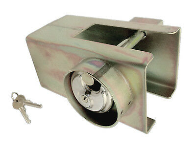 UNIVERSAL HEAVY DUTY CARAVAN TRAILER HITCH LOCK with ENCLOSED PADLOCK 4 SECURITY