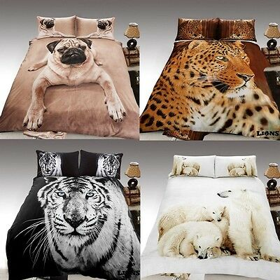 3D Animal Print Effected Duvet Cover Sets Designs Luxury Pillow Cases Bed Sheets