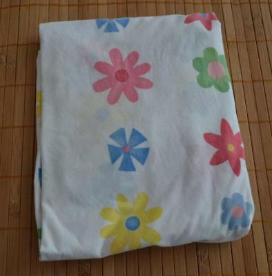 POTTERY BARN KIDS Flower Floral Fitted Crib Sheet PBK
