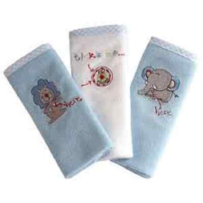New Bubba Blue 3 Pack Face Washers Mini Terry Towelling Boy Baby
