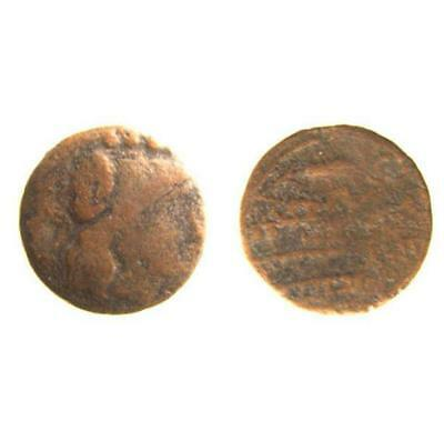 Republic Bronze Triens with Minerva Head, Corn Ear,Prow ex. RBW, Crawford 69/4b
