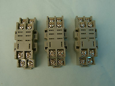Qty 3 POTTER BRUMFIELD 27E895 RELAY BASE 2 PORTS 10A 300VAC