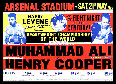 -A3 Size- Muhammad Ali vs Henry Cooper 1966 wall Home Poster Print Art - #02