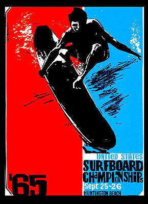 -A3 Size- Surfing 65 Vintage Surf wall Home Poster Print Art - #02