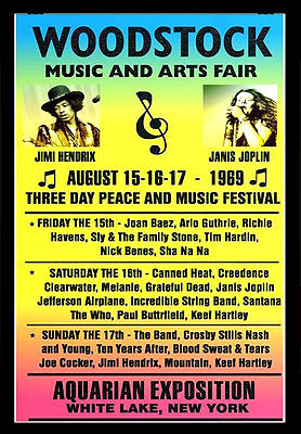 -A3 Size- WOODSTOCK 1969 FESTIVAL CONCERT wall Poster Print Art - #02