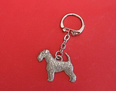 Airedale Terrier Pewter Keyring FREE POUCH NEW Father Mother Xmas Airedale Gift