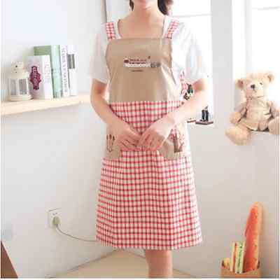 New Fashion Womens Kitchen Restaurant Bib Cooking Aprons Pockets Bowknot 29Color