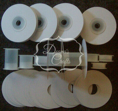 """12 1/4"""" or 3/8"""" Empty Ribbon Spools Plastic With or W/O Flanges Crafts Bobbins"""