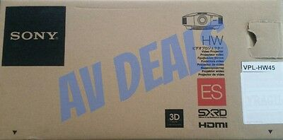 SONY VPL-HW45ES (VPLHW45ES) 3D Theater/Gaming Projector New In Box with Warranty