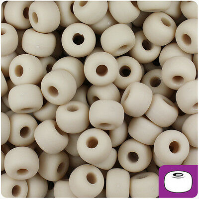 250 White Opaque 11x8mm Large Barrel Pony Beads Made in the USA