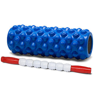 "Foam Roller XF-AP Exercise Massage Blue 14"" + Message Stick RW 17"" - ²BAALD"