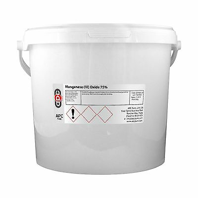 Manganese Dioxide 75% (Manganese IV Oxide)  5KG **Shipped by Courier**