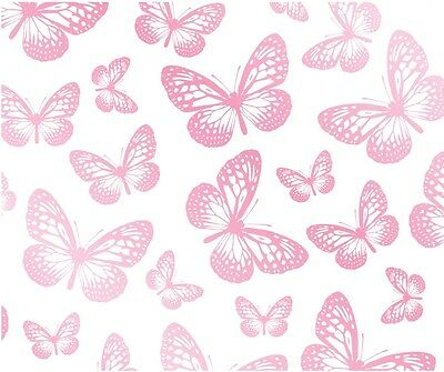 Fun4Walls Pink White Butterfly Butterflie Girls Childrens Kids Wallpaper Fd40275