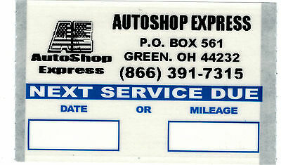 Personalized Logo Oil Change Stickers 1000/Roll Orl10004