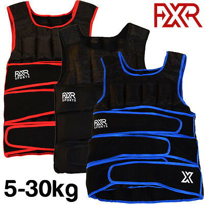FXR SPORTS WEIGHTED VEST 5,10,15,20,30kg ADJUSTABLE WEIGHTED VEST RUNNING GYM