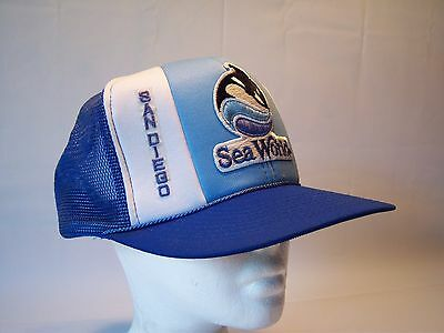 Vintage 80's San Diego Seaworld Trucker Hat Men's One Size Fits All