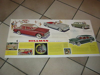 depliant Brochure BIG,HILLMAN AUTO CAR,ENGLAND LONDON,Rootes Group ,CABRIOLET