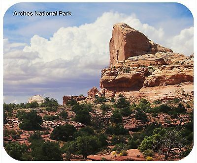Mouse Pad Custom Thick Mousepad-Arches National Park 1-Add Any Text