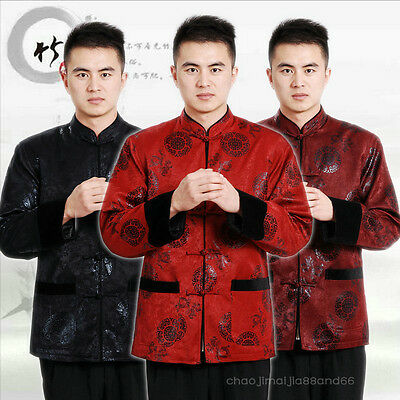 Chinese tradition  Warm Kung Fu Tai Chi  Uniforms Mink Clothes Jacket Coat Men's