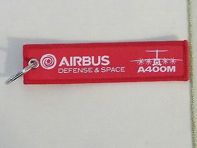 Airbus Defense and Space A400M Flight Tag Keychain / Remove Before Flight New