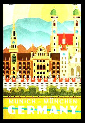 GERMANY A3 vintage retro travel & railways posters art print Wall Decor #3