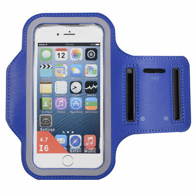 Blue Sports Running Jogging Gym Armband Case Cover Holder for Arm Band iPhone 6
