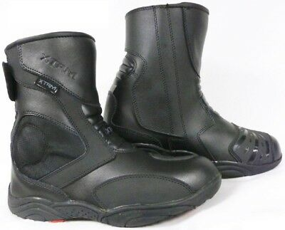 Motorcycle Bike Touring Rider Urban Leather Black XTRM 810 Short Boots Men Women