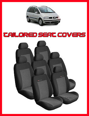 Tailored seat covers for Seat ALHAMBRA 1996-2010 FULL SET 7 seater grey2