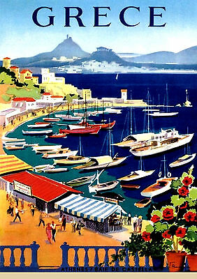 GREECE A3 vintage retro travel & railways posters art print Wall Decor #3