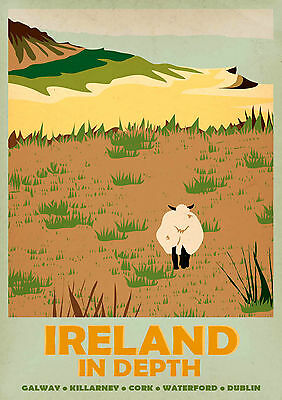 IRELAND IN DEPTH A3 vintage retro travel & railways posters Wall Decor #3