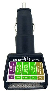 Automotive 12V Battery and Charging System Monitor/Tester/Analyzer