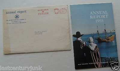 Annual Report For New England Telephone & Telegraph Co 1958 w/ Envelope