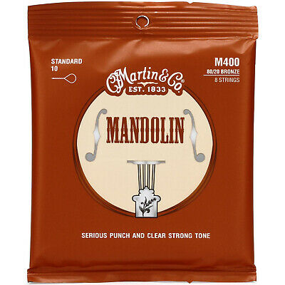 New Martin M400 80/20 Bronze Wound Light Gauge Mandolin Strings + FREE SHIPPING