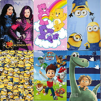 Official Licensed Character Fleece Blankets Disney Minions Kids Boys Girls Bed