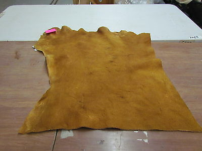 "Moose Hide Native American Dark Color Home Tanned Hide 35"" By 33"" Small, Sewing"