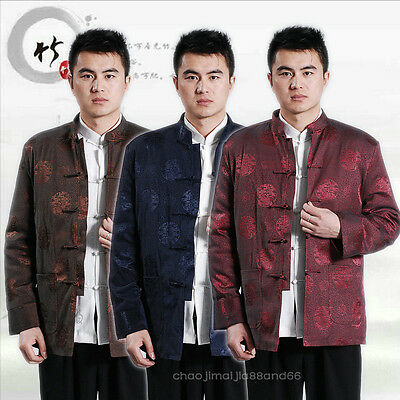 Festival chinese traditional Kung Fu thicken  jacket Coat shirts Clothing Men's