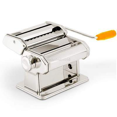 "7"" Pasta Maker Machine Fresh Noodle Dough Ravioli Spaghetti Stainless Steel"