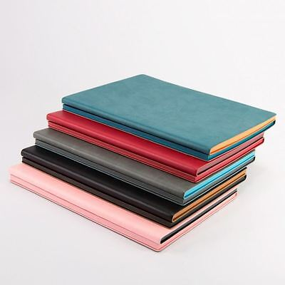 A5 Luxury Fine Italian PU Leather Ruled Lined & Dotted Duo Notebook