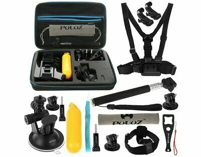 Accessories Set for GoPro Kit Pole Head Chest Mount Mix Camera Combi Pack