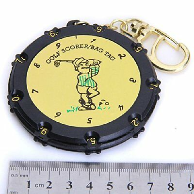 Golf 18 Hole Stroke Shot Putt Score Counter Keeper Scoring Tag With Key chain